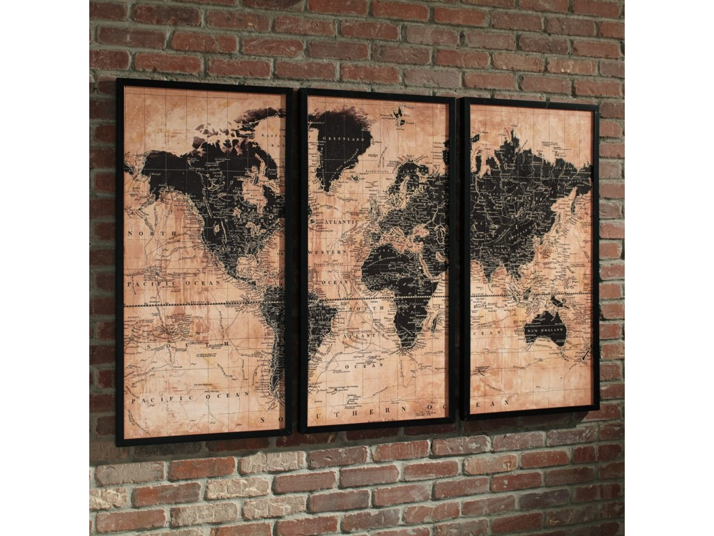 Signature Design by Ashley Wall ArtPollyanna Tan/Black Wall Art Set