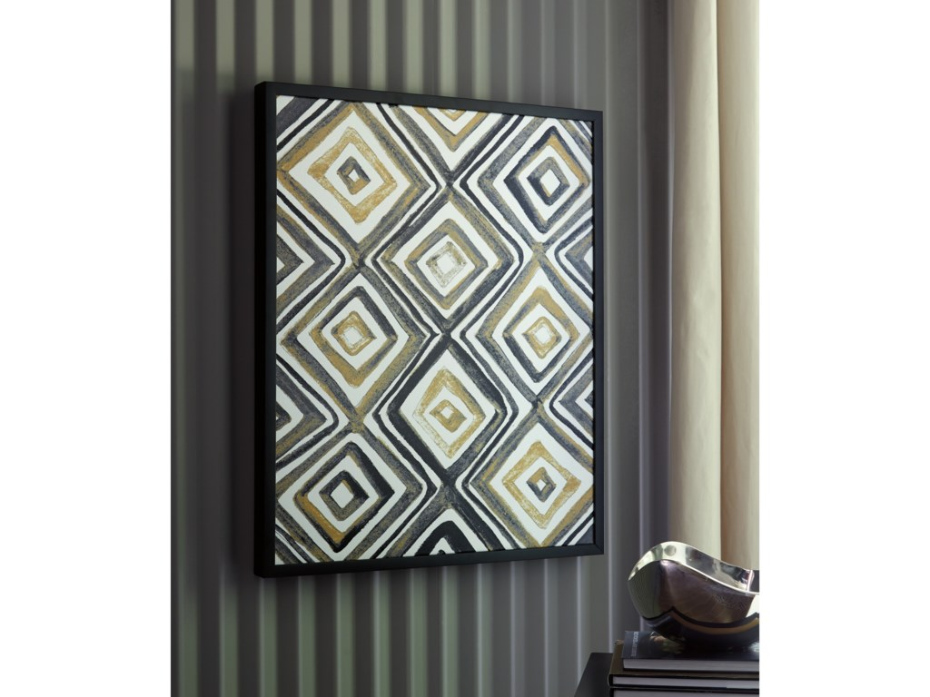 Signature Design by Ashley Wall ArtPriela Black/Gold Finish Wall Art