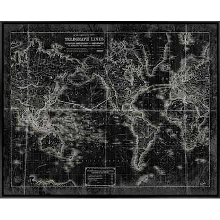 Framed Canvas  (Black/White) - Wall Art