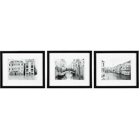3-Piece Doga Black/White Wall Art Set
