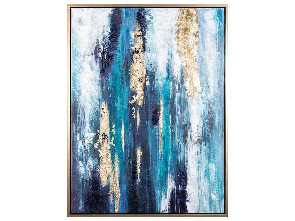 Signature Design by Ashley Wall ArtDinorah Teal Blue Wall Art