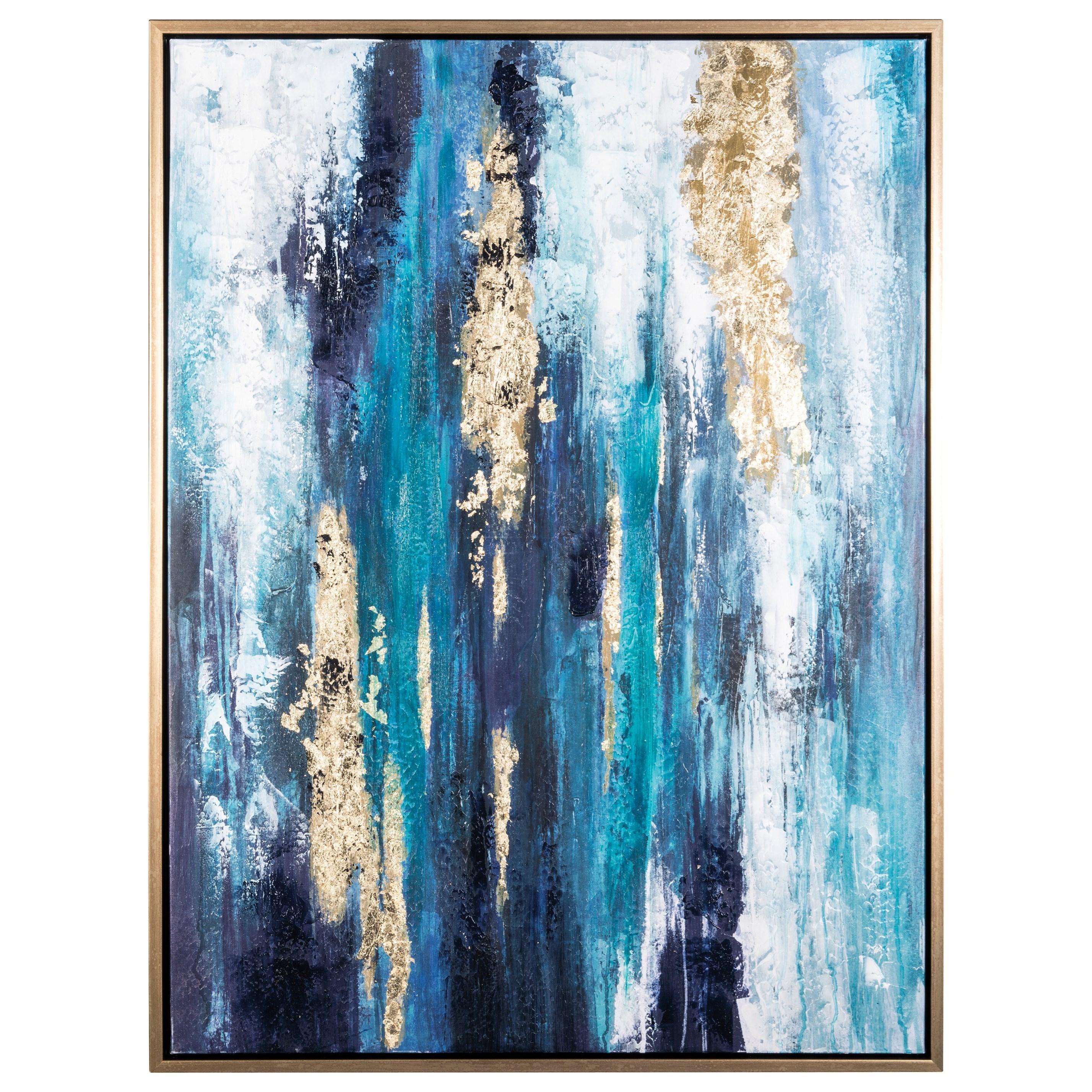Attrayant Ashley Signature Design Wall ArtDinorah Teal Blue Wall Art ...