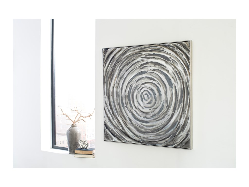 Signature Design by Ashley Wall ArtAdda Silver/Gray Wall Art