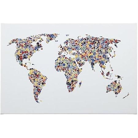 Kayson World Map Wall Art