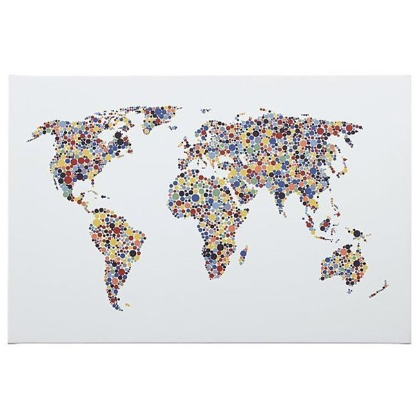 Trendz wall artkayson world map wall art