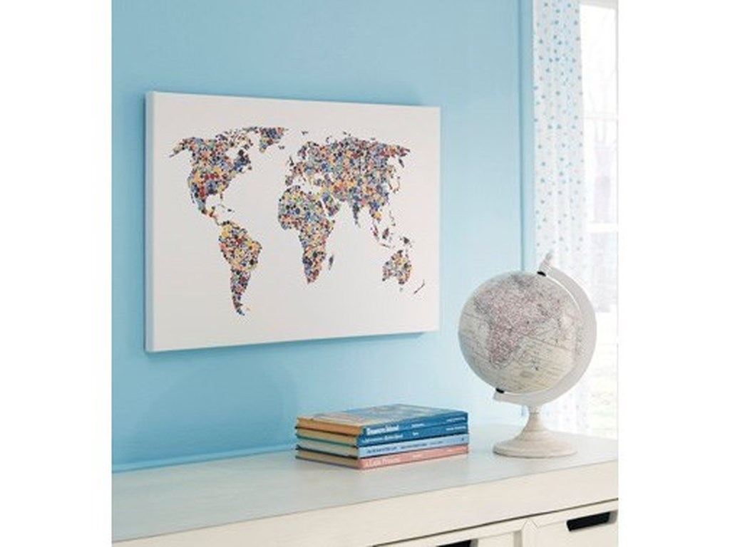 Signature Design by Ashley Wall ArtKayson World Map Wall Art