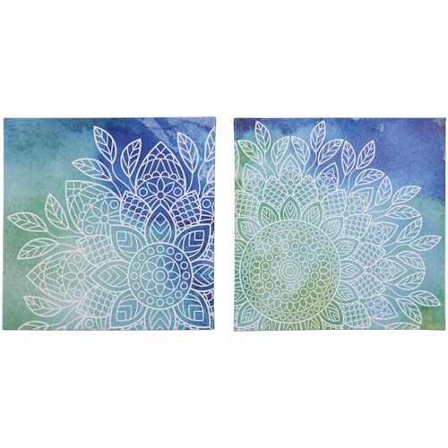 Signature Design by Ashley Wall Art Andrian Blue/Green Wall Art Set