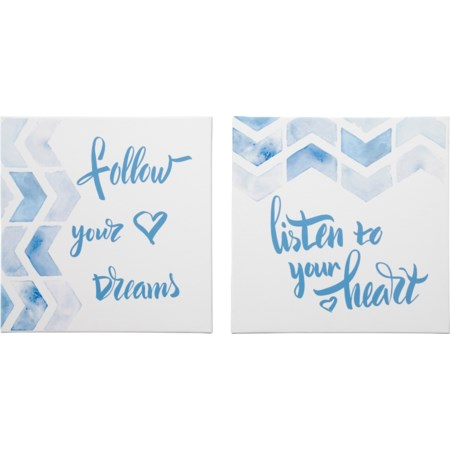 Ellis Teal/White Wall Art Set