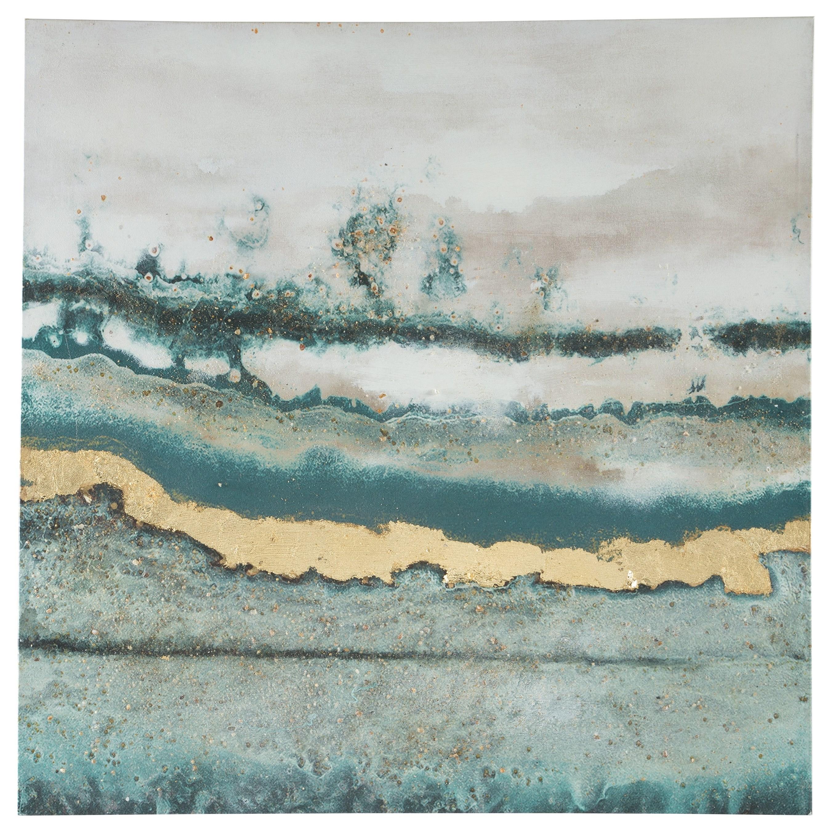Praveen Blue Spruce/White Wall Art