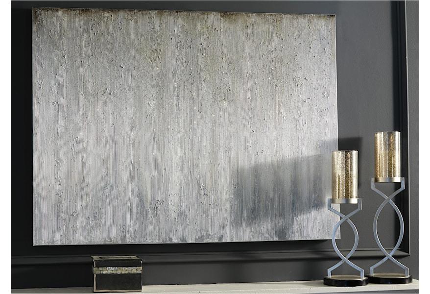Ashley Signature Design Wall Art 1331120 Paytah Silver Finish Dunk Bright Furniture Prints Paintings
