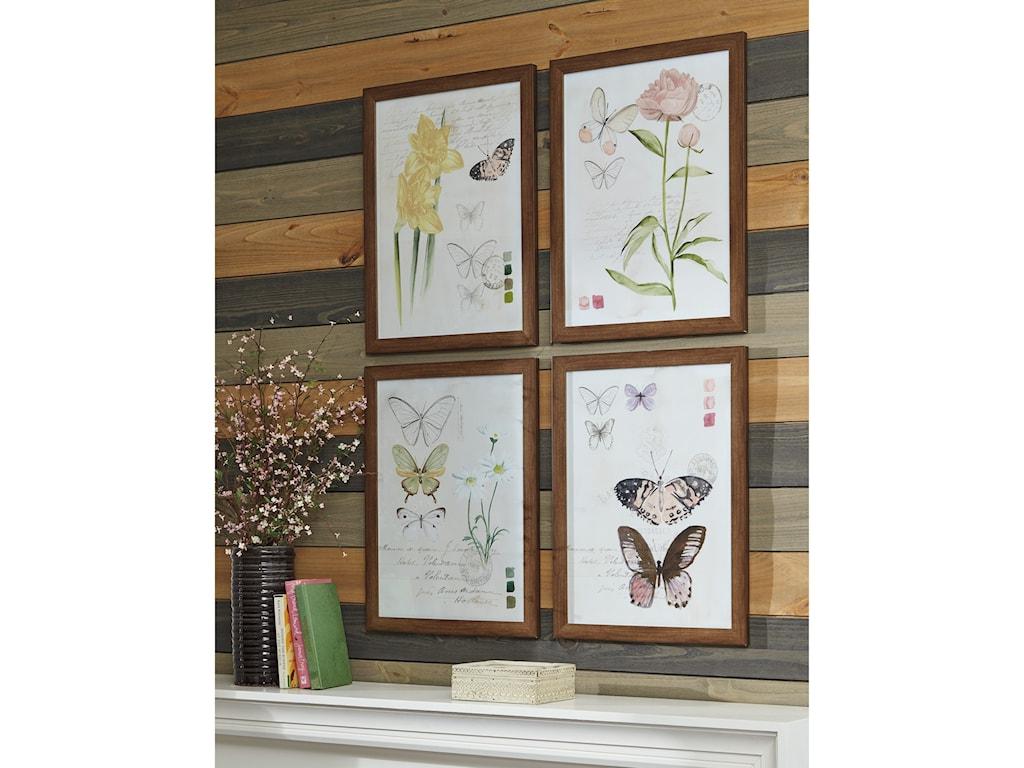 Signature Design by Ashley Wall Art4-Piece Carlisia Wall Art Set