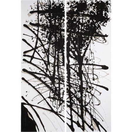 Jace Black/Gray/White Wall Art Set