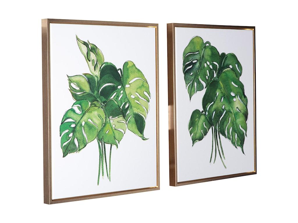 Signature Design by Ashley Wall ArtJakayla Green/White Wall Art Set