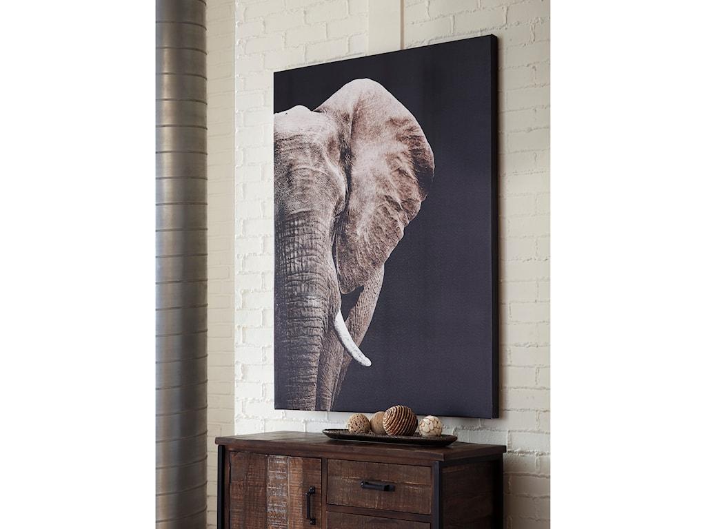 Signature Design by Ashley Wall ArtJendayi Elephant Wall Art