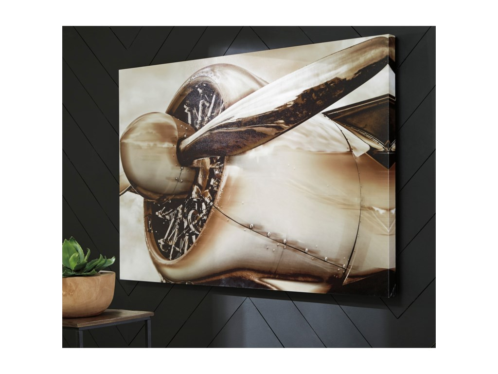 Signature Design by Ashley Wall ArtJaquez Brown Wall Art