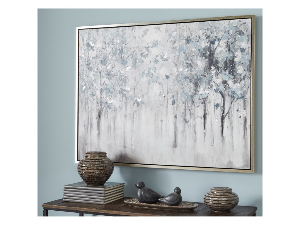 Signature Design by Ashley Wall ArtBreckin Blue/Gray/White Wall Art