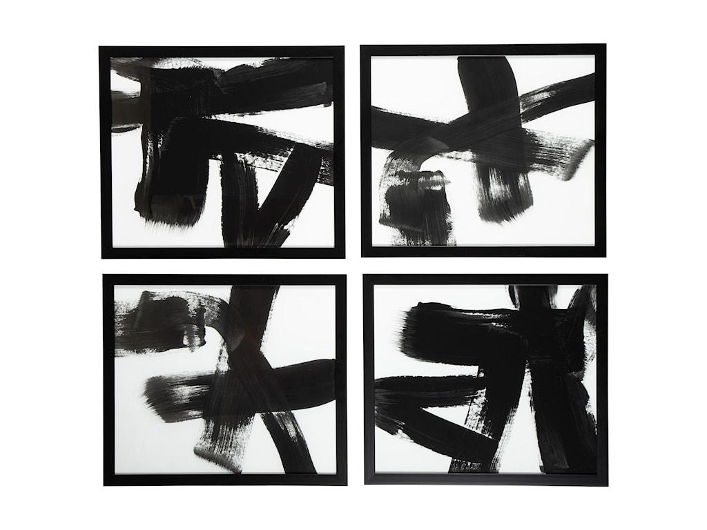 Signature Design by Ashley Wall ArtDoro Black/White Wall Art Set