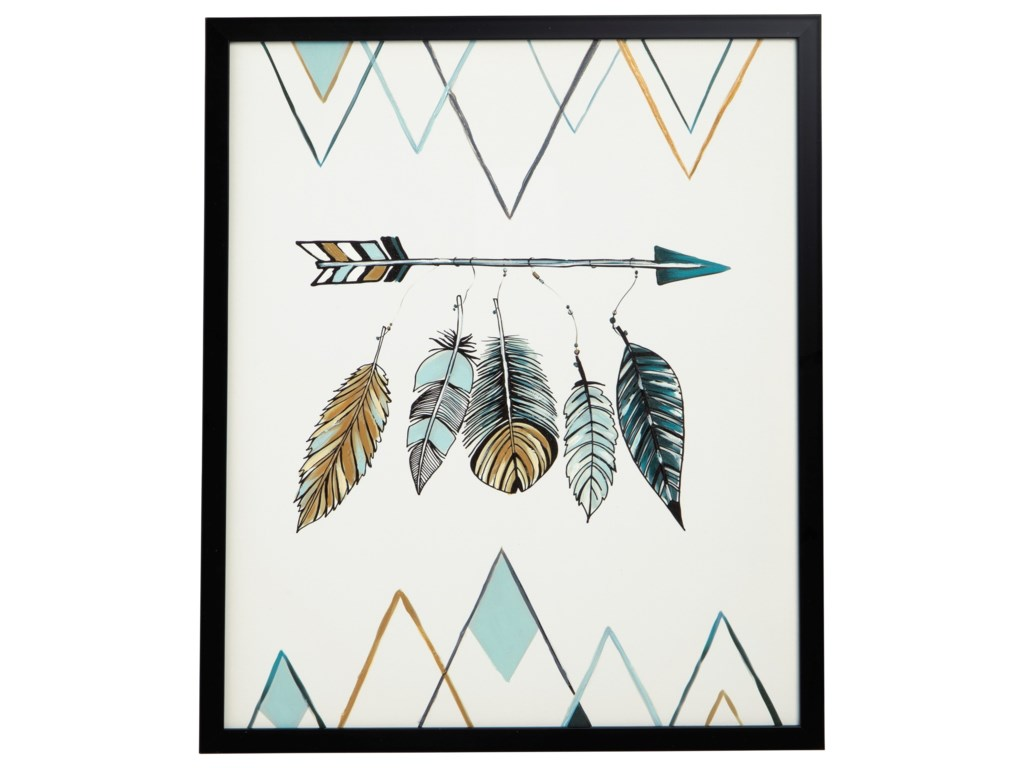 Signature Design by Ashley Wall ArtAdaley Teal/White/Gray Wall Art