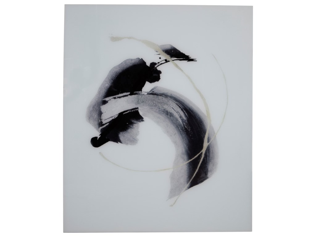 Signature Design by Ashley Wall ArtJenise Black/Silver/Champagne Glass Wall Art