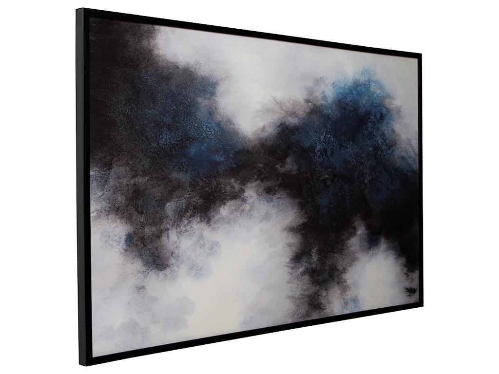 Signature Design by Ashley Wall ArtBellecott Black/White/Blue Wall Art