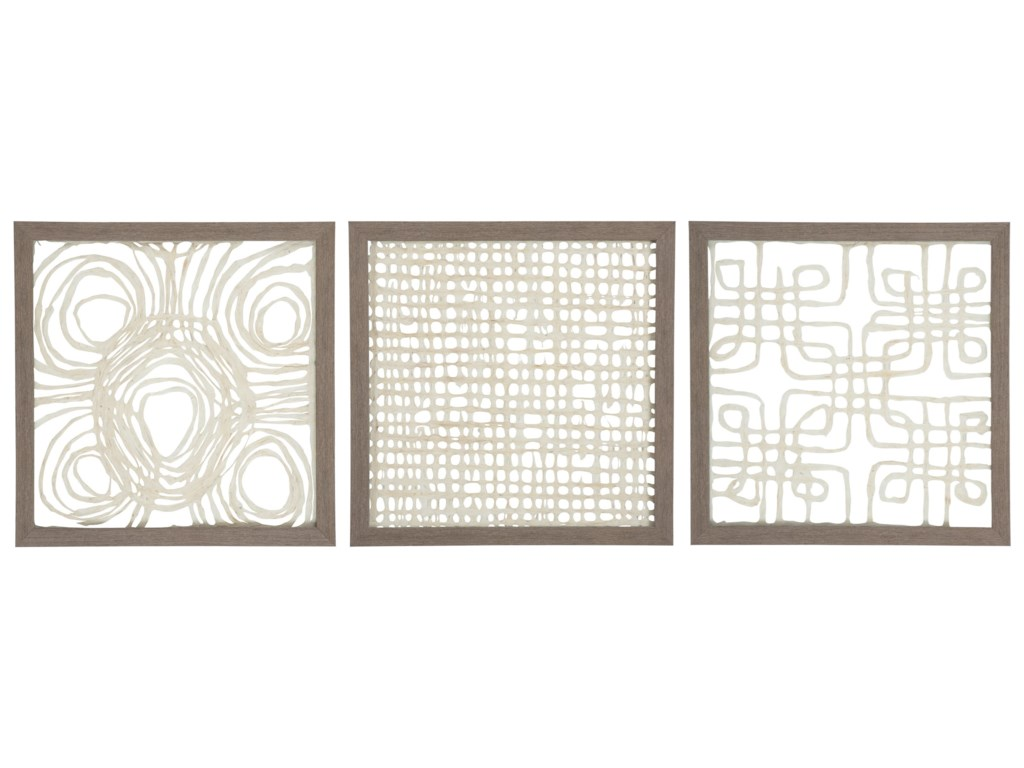 Wall Art 3 Piece Odella Creamtaupe Wall Decor Set Rotmans Wall