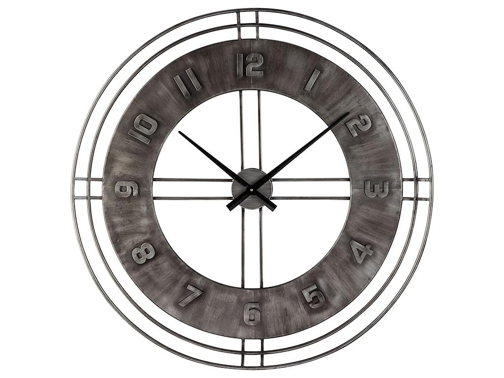 Signature Design by Ashley Wall ArtAna Sofia Antique Gray Wall Clock