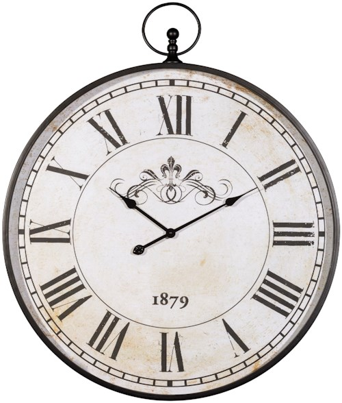 Signature Design by Ashley Wall Art Augustina Antique Black Wall Clock