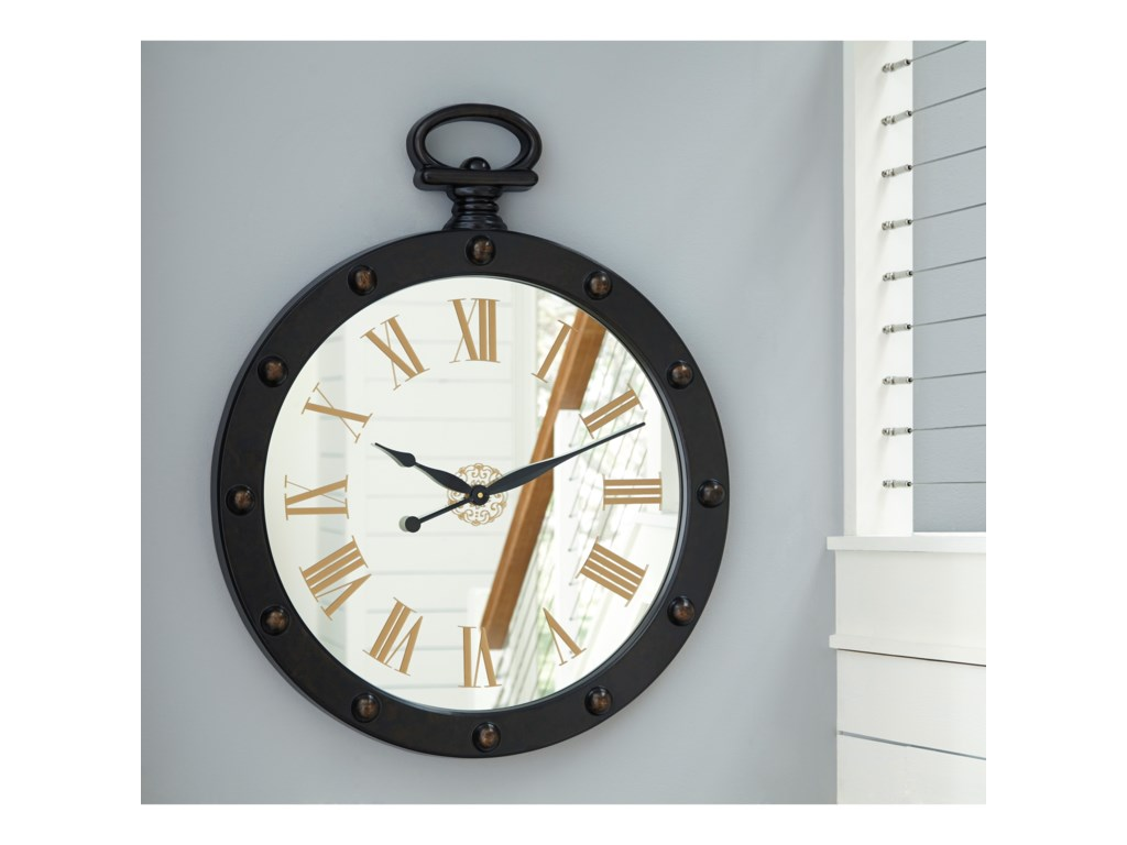 Signature Design by Ashley Wall ArtJuan Brown Wall Clock
