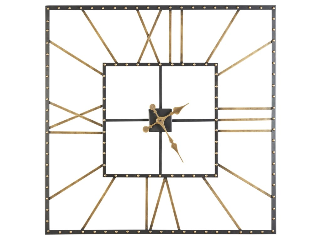 Signature Design by Ashley Wall ArtThames Black/Gold Finish Wall Clock