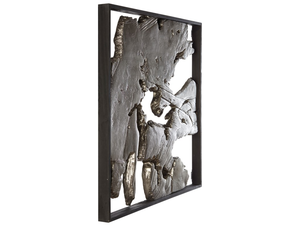 Signature Design by Ashley Wall ArtFabiana Black/Silver Finish Wall Decor