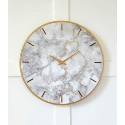 Ashley (Signature Design) Wall ArtJazmin Gray/Gold Finish Wall Clock