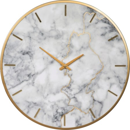 Jazmin Gray/Gold Finish Wall Clock