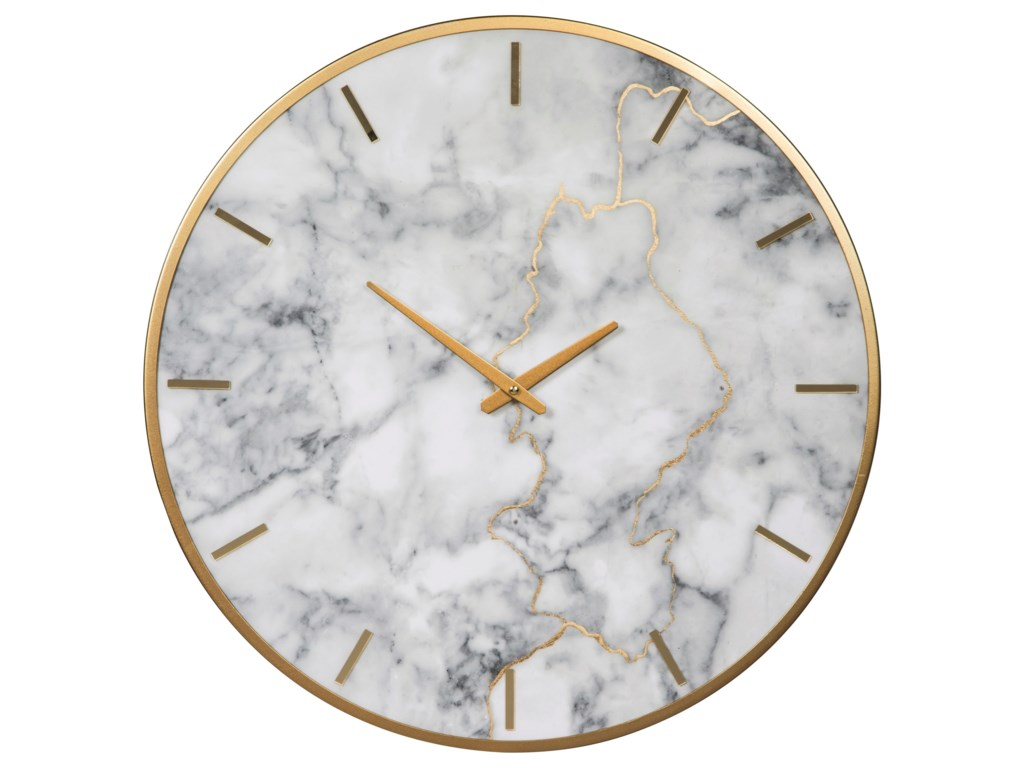 Signature Design by Ashley Wall ArtJazmin Gray/Gold Finish Wall Clock
