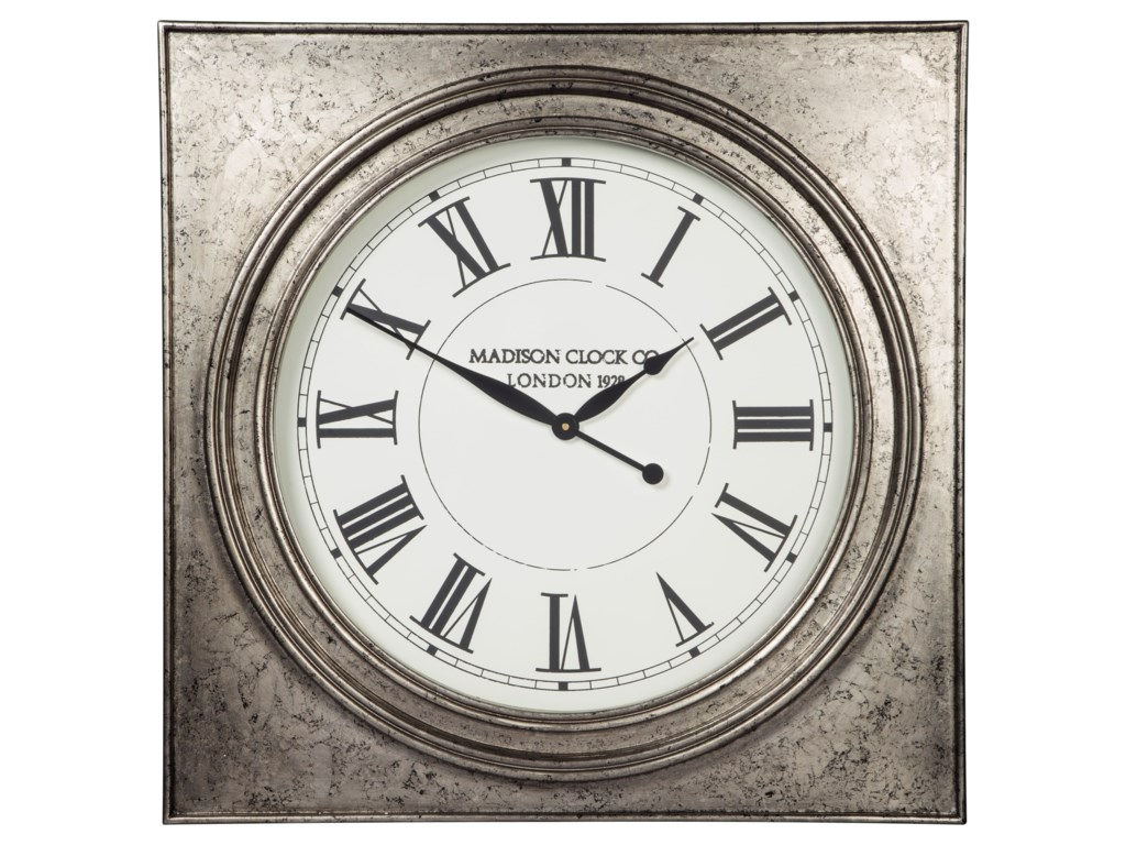 Signature Design by Ashley Wall ArtPelham Antique Silver Finish Wall Clock