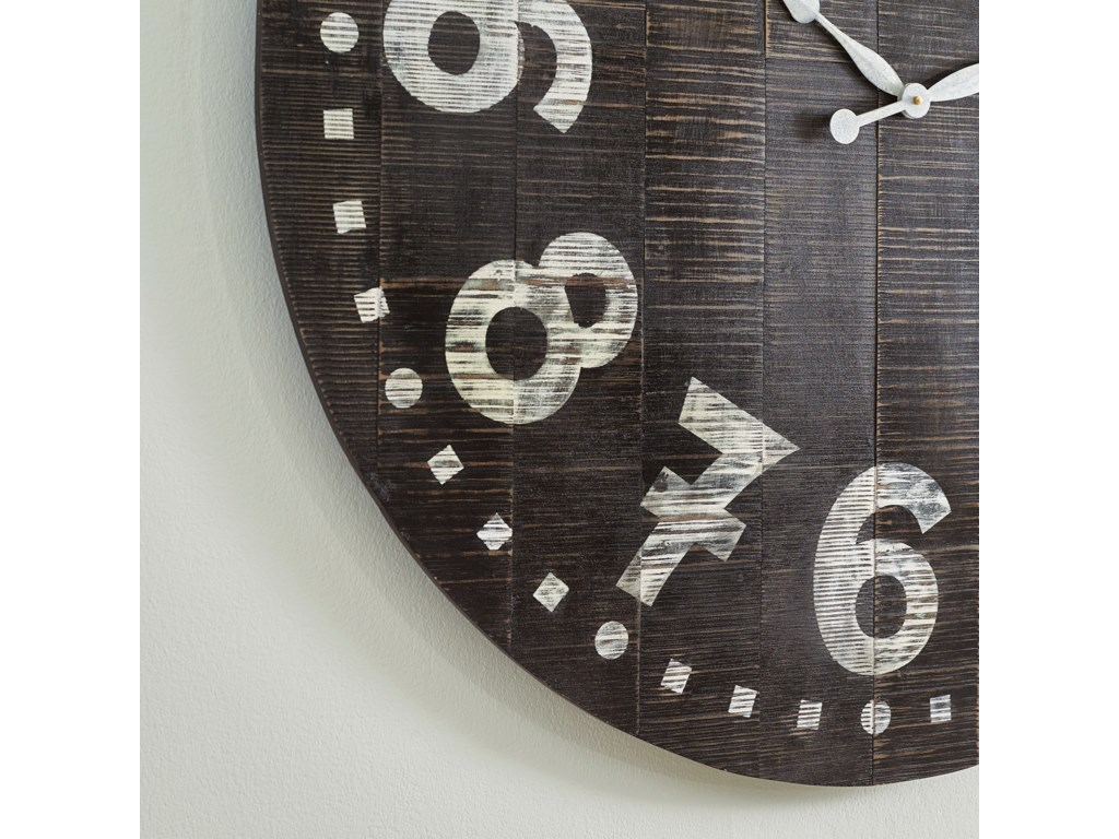 Signature Design by Ashley Wall ArtBrone Black/White Wall Clock