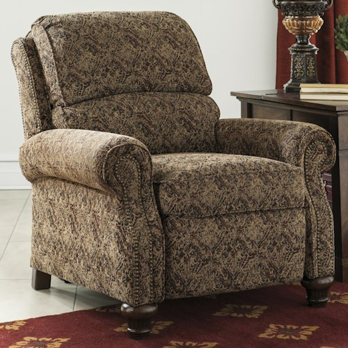 Signature Design by Ashley Walworth Accent Transitional Style Push Back Low Leg Recliner