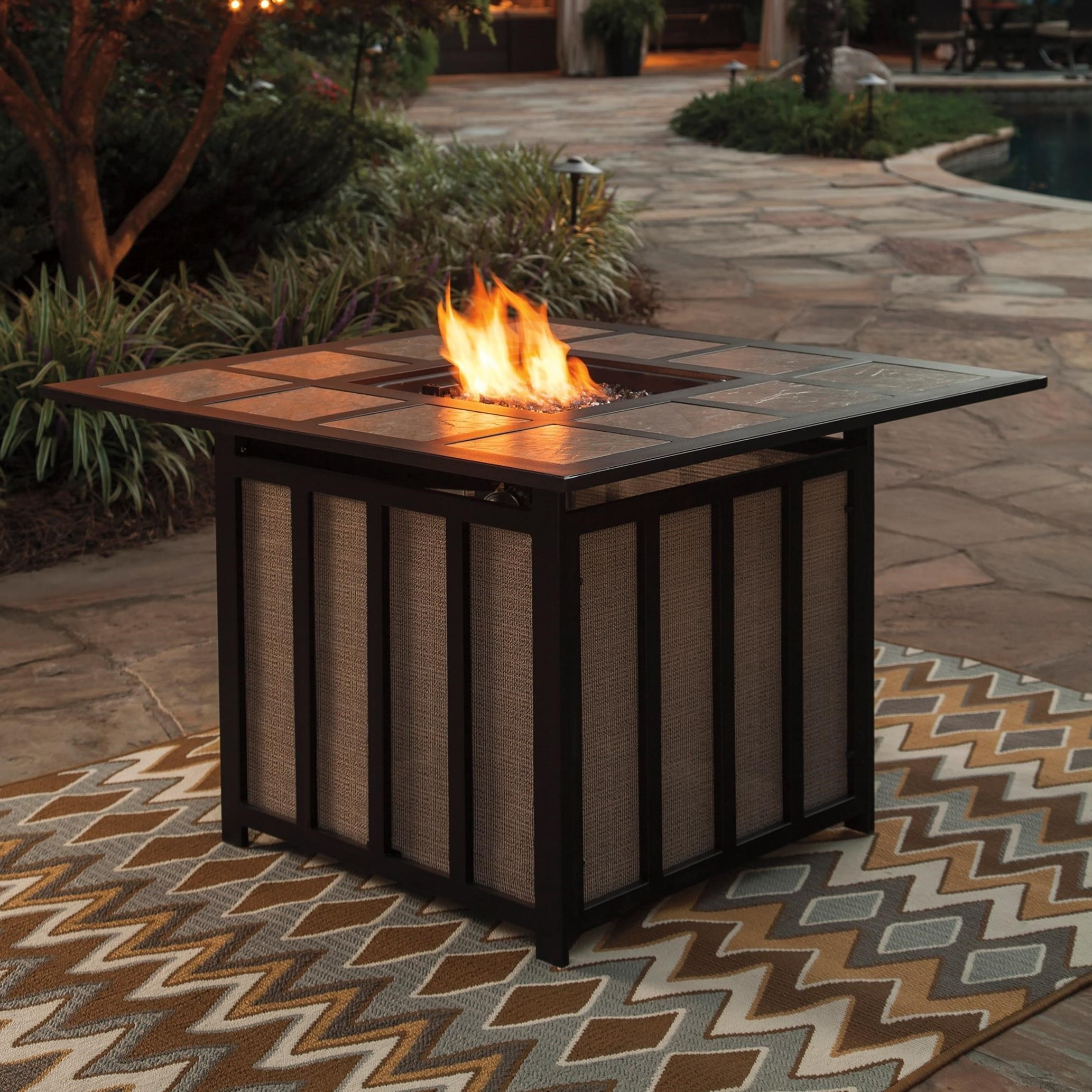 square fire pit table signature design by wandon outdoor square pit 30218
