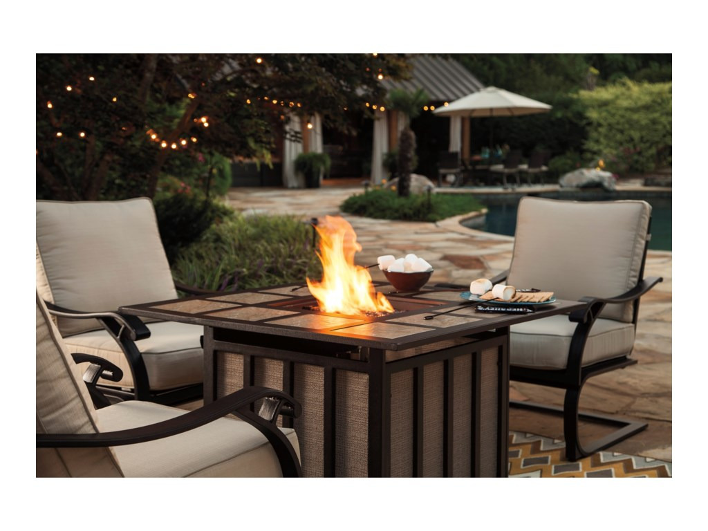 Signature Design by Ashley WandonOutdoor Square Fire Pit Table