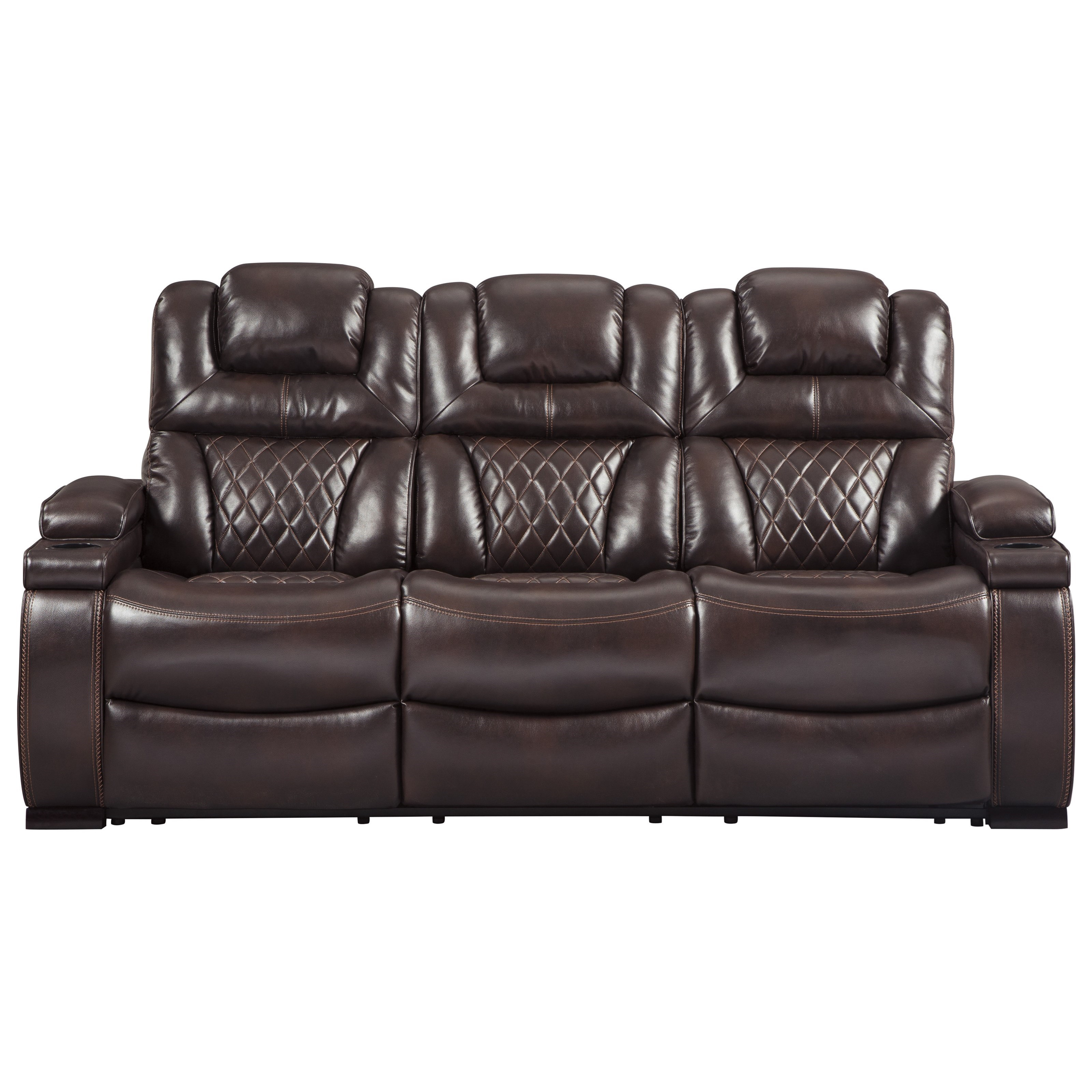 ashley signature design warnerton 7540715 power reclining sofa with rh dunkandbright com sectional sofa power recliner power sofa recliner mechanism