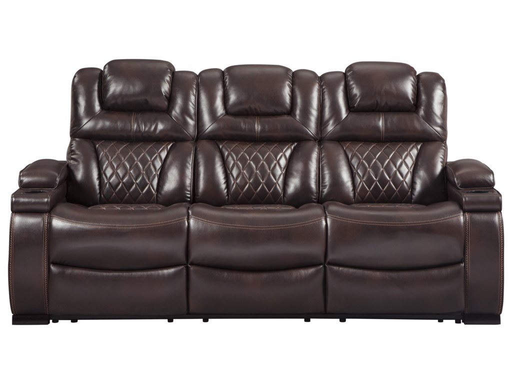 Ashley Power Recliner Sofa Leather Cabinets Matttroy