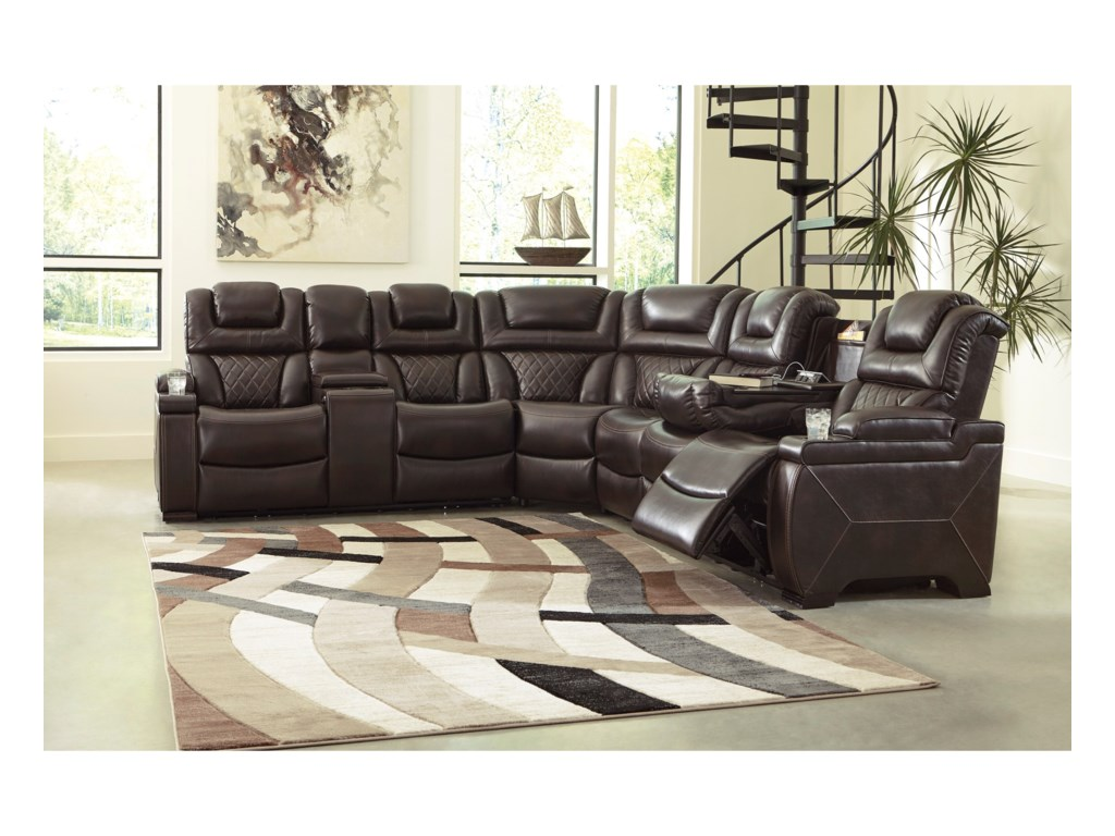 Signature Design by Ashley WarnertonPower Reclining Sectional