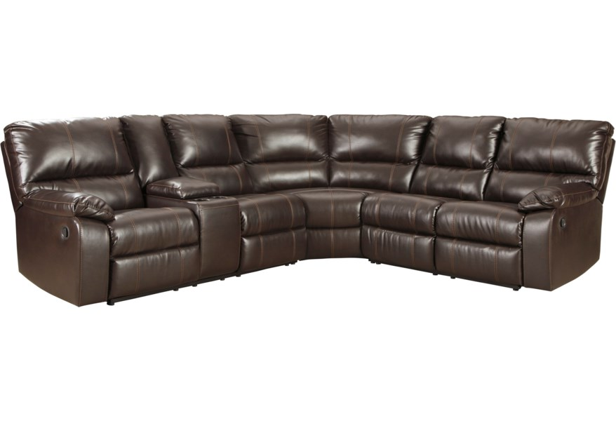 Warstein Casual 3 Piece Reclining Sectional by Signature Design by Ashley  at Furniture Superstore - Rochester, MN