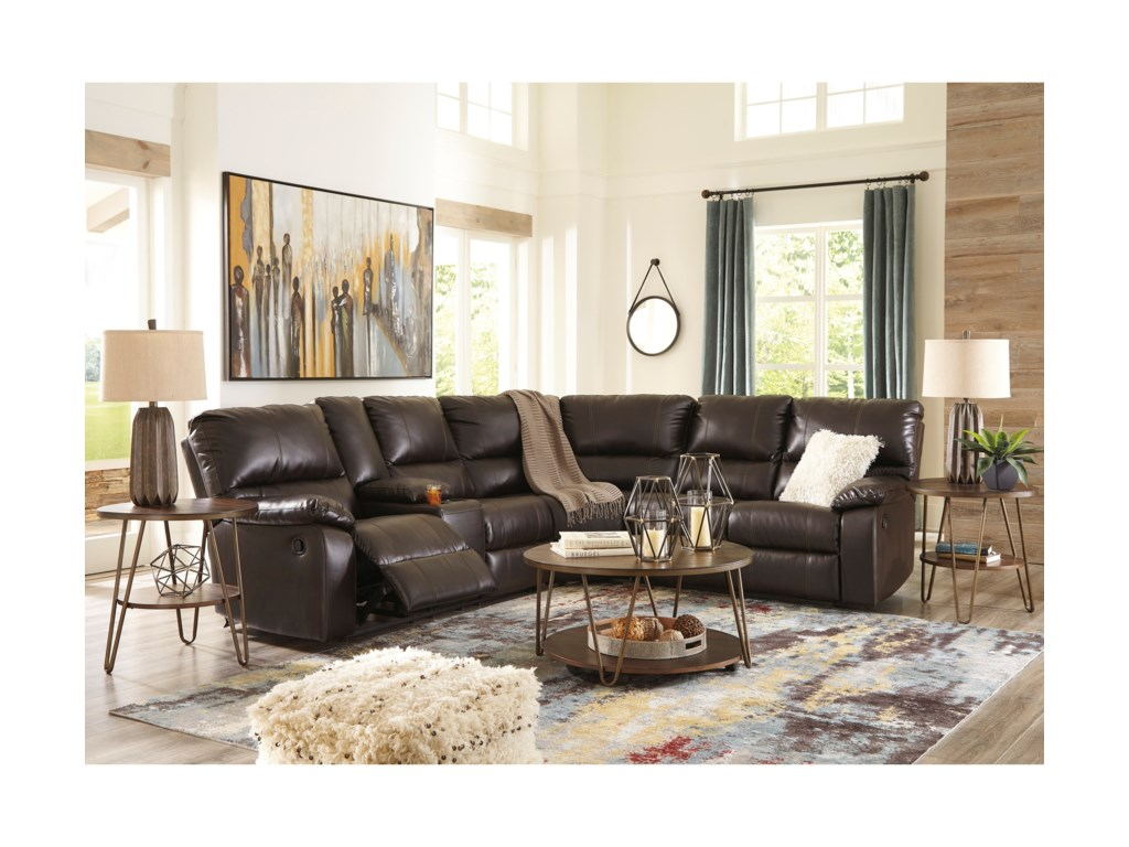 Signature Design by Ashley Warstein3 Piece Reclining Sectional