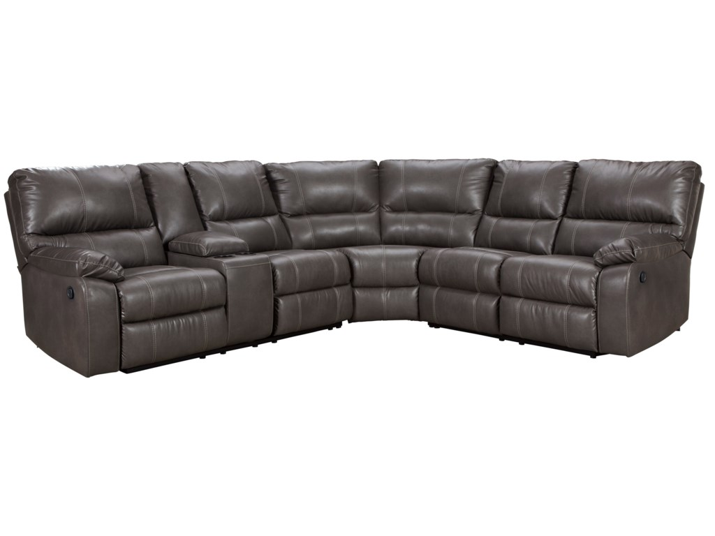 Warstein Casual 3 Piece Reclining Sectional by Signature Design by Ashley  at Royal Furniture