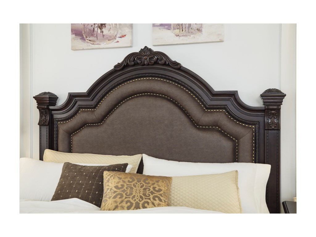 Signature Design by Ashley WellsbrookCalifornia King Upholstered Poster Bed