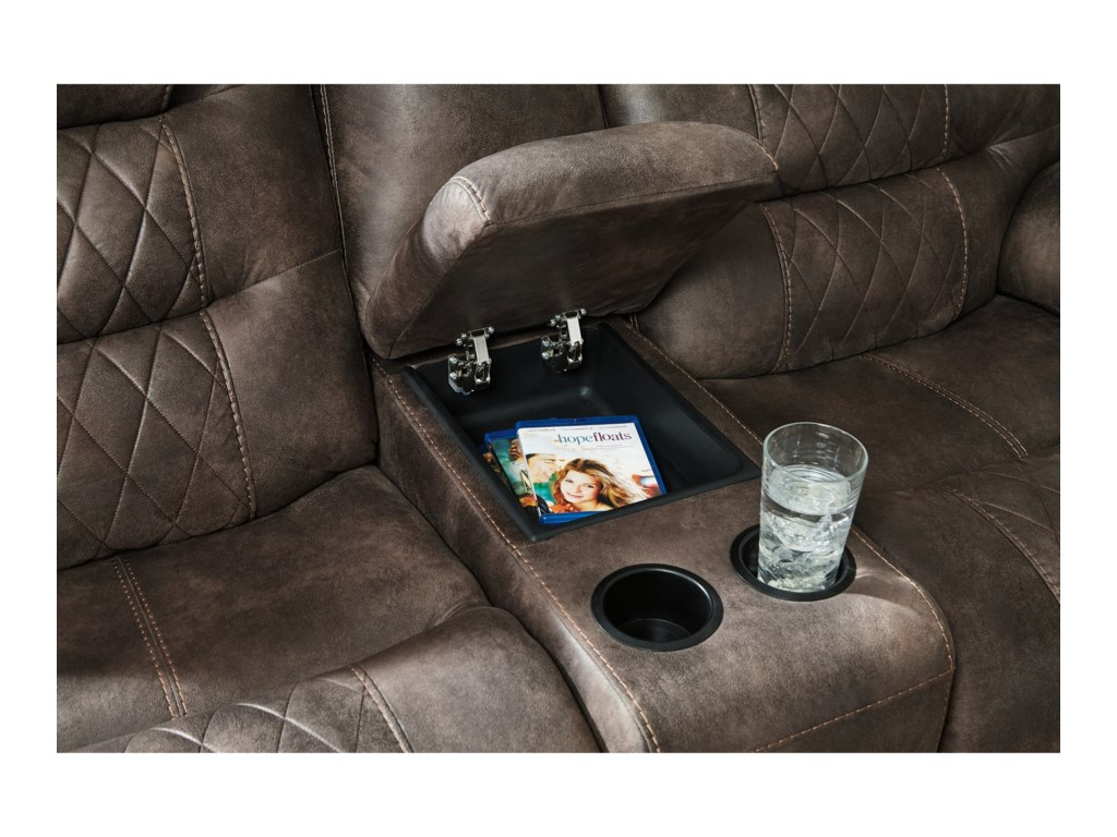 Signature Design by Ashley WelsfordPower Reclining Console Loveseat