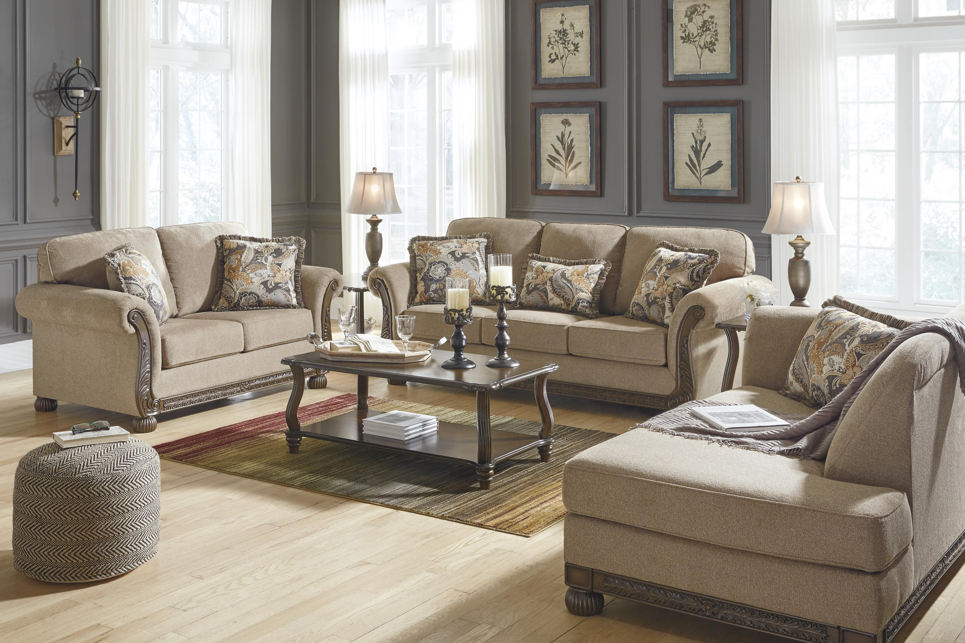 Picture of: Signature Design By Ashley Westerwood 4960138 35 16 Patina Sofa Loveseat And Laf Corner Chaise Set Sam Levitz Furniture Stationary Living Room Groups