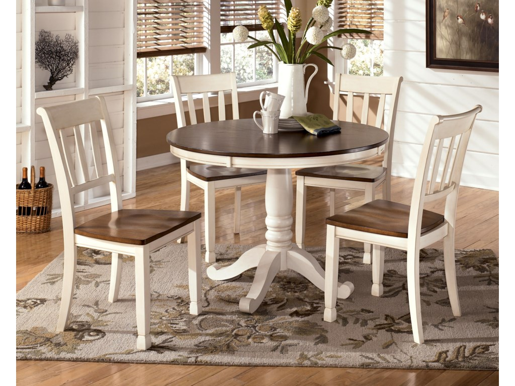 Whitney 5 Piece Round Table Set