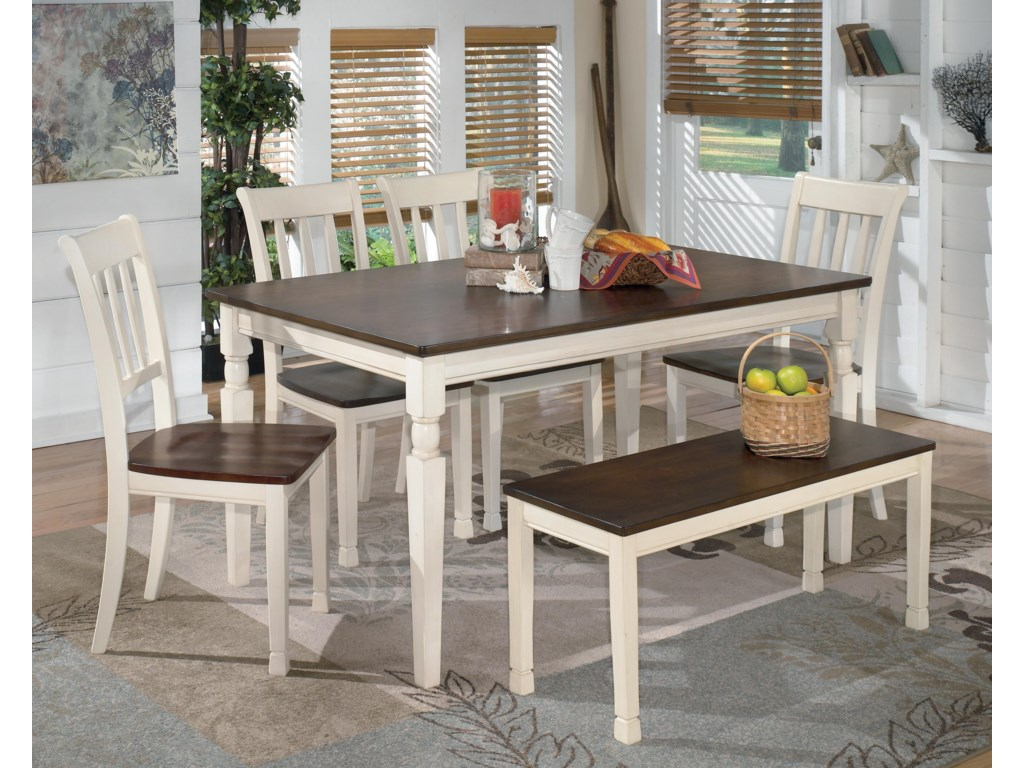 Signature Design by Ashley Whitesburg6-Piece Rectangular Table Set with Bench