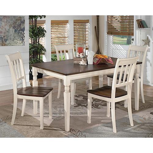 Styleline Whitesburg 5 Piece Rectangular Dining Table Set
